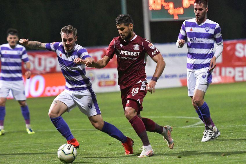 Lucian Goge, într-un meci între Rapid și ASU Poli // foto: Imago