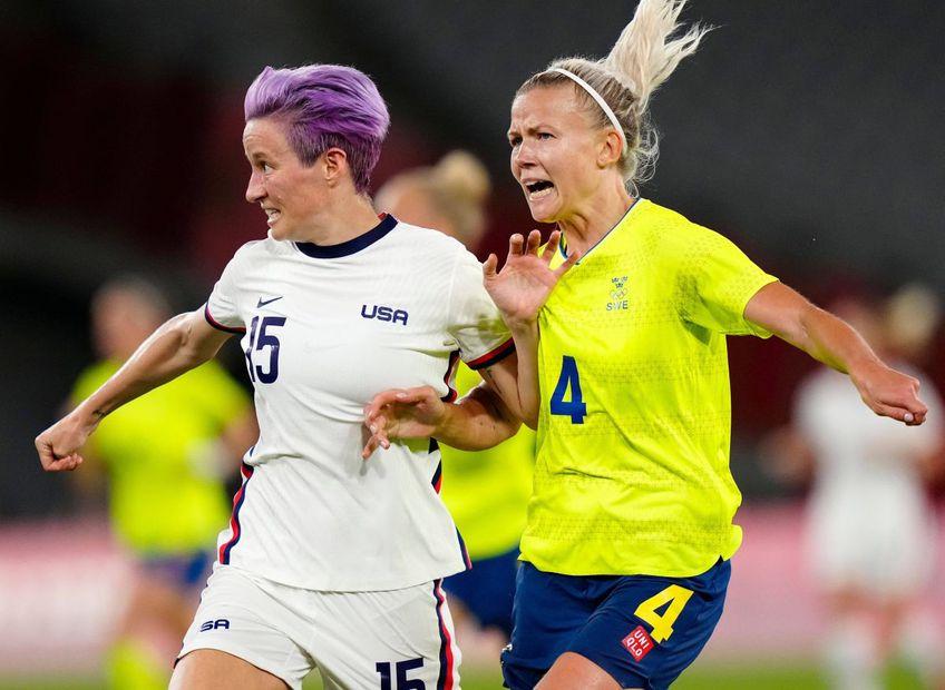 Megan Rapinoe în meciul cu Suedia, 0-3, la Jocurile Olimpice, foto: Imago