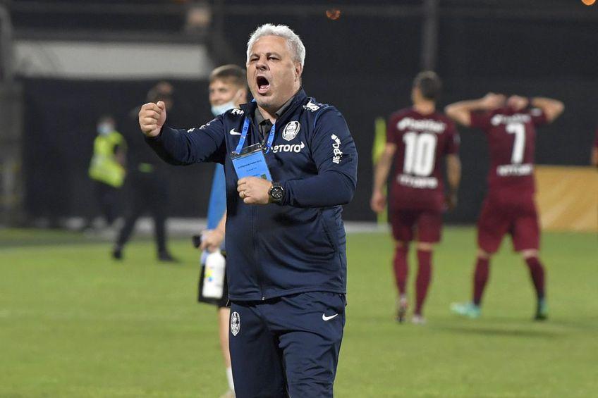 """Marius Șumudică, antrenorul lui CFR Cluj, nu concepe ca """"feroviarii"""" să nu treacă de Lincoln. În Gibraltar, campioana României a avut mari probleme, însă s-a impus în final cu 2-1."""