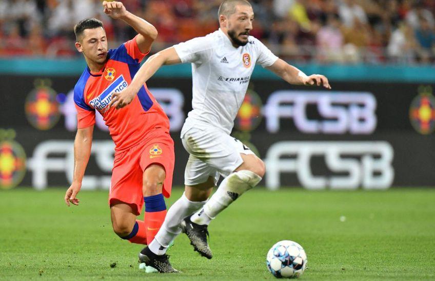 Olimpiu Moruțan a fost schimbat după doar 45 de minute în partida FCSB - Șahtior Karagandy. În locul său a intrat Alexandru Musi (17 ani).