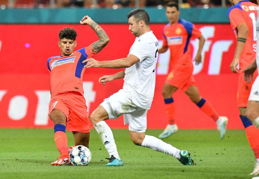 Florinel Coman (23 de ani, extremă stânga) a revenit la FCSB, în meciul cu Șahtior Karagandy (1-0).