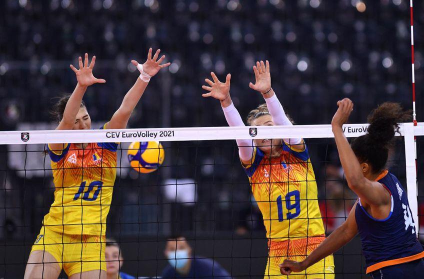Naționala de volei feminin a României înfruntă Olanda în al treilea meci al grupei D de la Euro 2021.