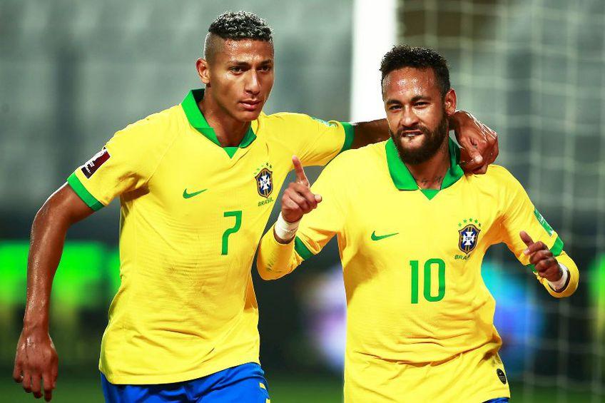 Richarlison (stânga) și Neymar // foto: Guliver/gettyimages