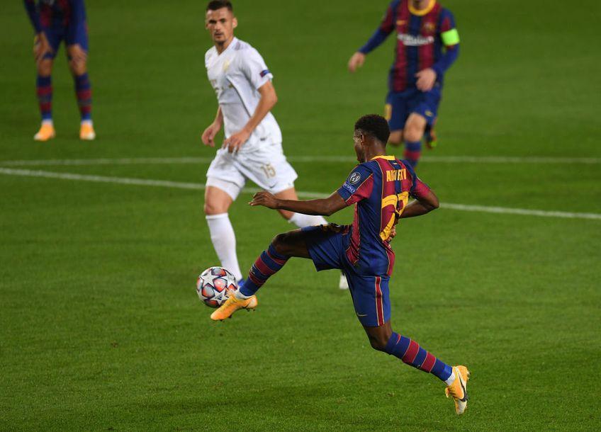 Ansu Fati a devenit marți primul jucător cu două goluri înaintea majoratului, în istoria Ligii