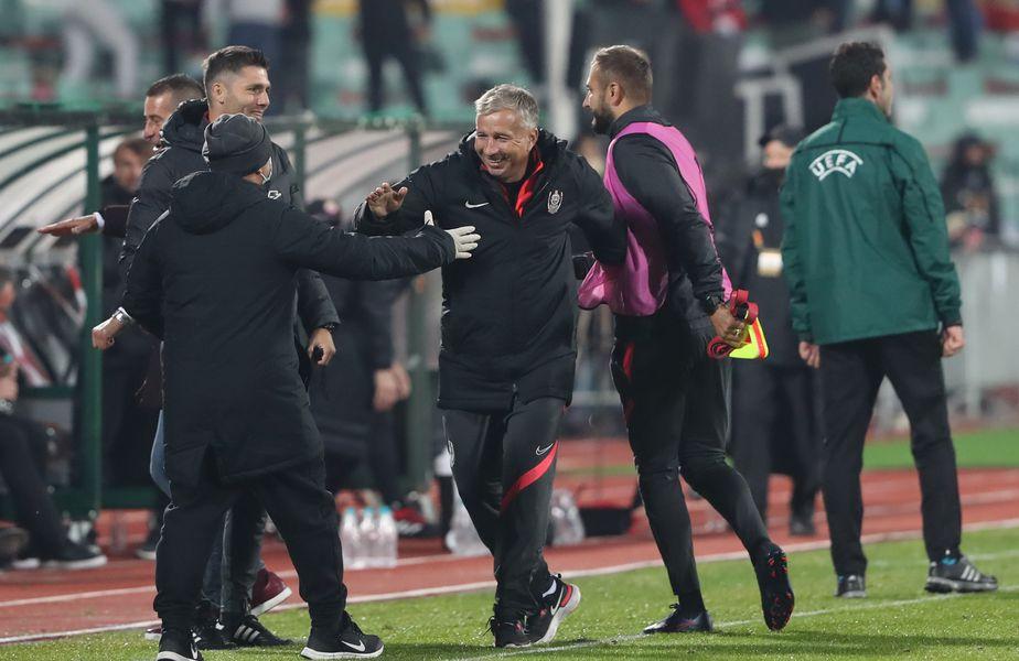 CFR Cluj a învins-o pe ȚSKA Sofia, scor 2-0, în primul meci al grupei A din Europa League. Dan Petrescu (52 de ani) spune că victoria este una mare, în fața unui adversar peste toate formațiile din Liga 1.