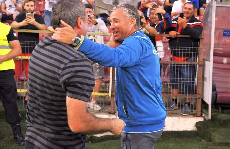 """Gică Hagi (55 de ani) l-a urmărit pe Ianis Hagi (22 de ani) în Standard Liege - Rangers 0-2. """"Regele"""" a vorbit la superlativ despre performanțele obținute de Dan Petrescu la CFR Cluj."""