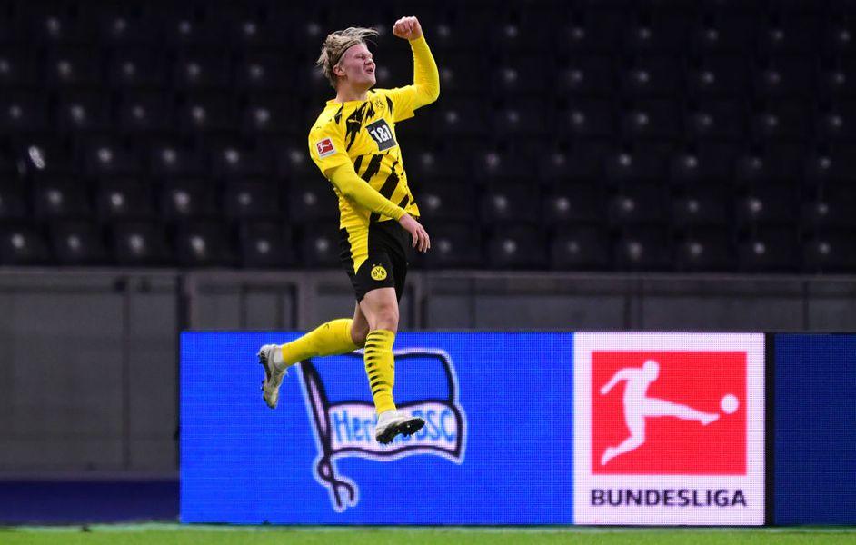 Haaland, Hertha - Dortmund 2-5