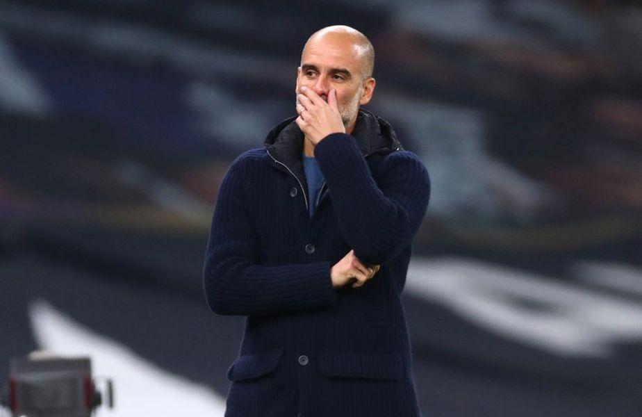 Josep Guardiola e tot mai îngrijorat, după ce Manchester City a pierdut și derby-ul cu Tottenham, scor 0-2. Foto: Guliver/GettyImages