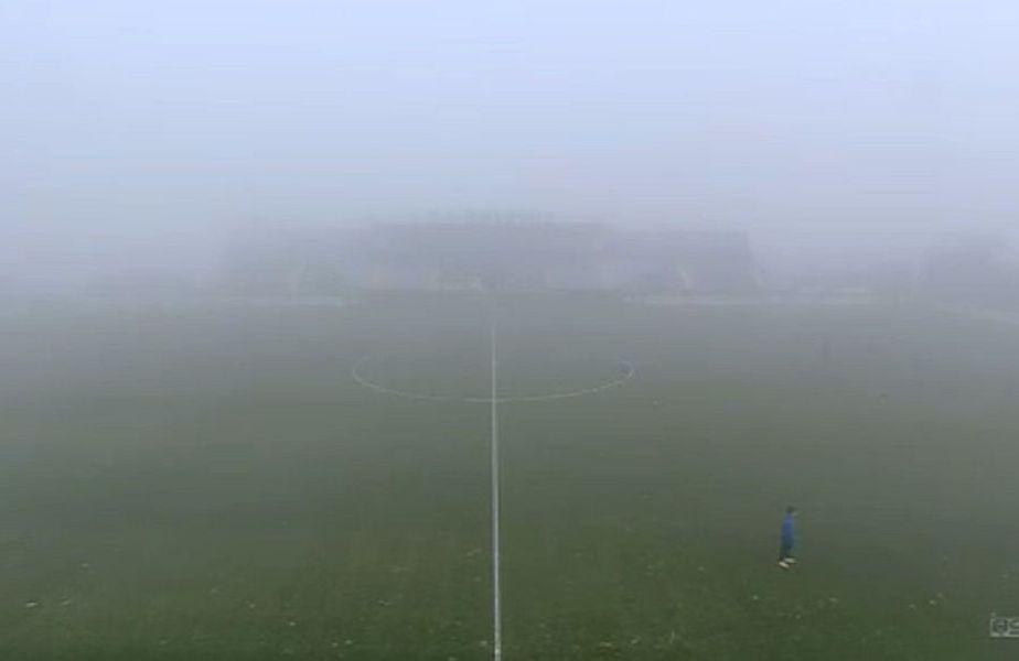 Ceața densă de la Ovidiu nu a permis disputarea partidei