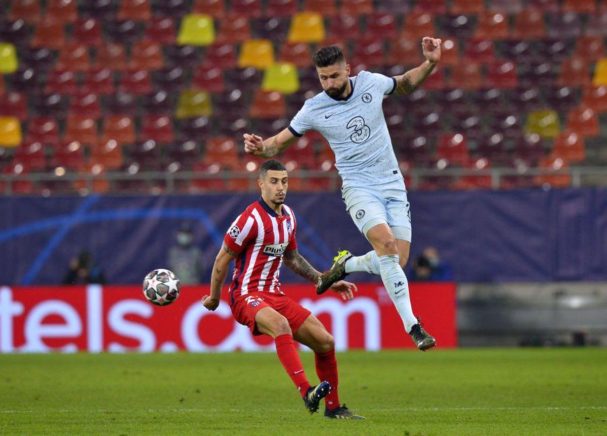 """ATLETICO MADRID - CHELSEA. Supergol pe Arena Națională! Olivier Giroud, """"foarfecă"""" de senzație, după o fază controversată"""