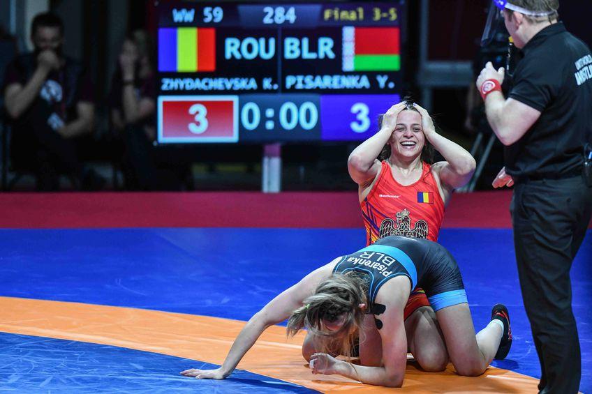 Kateryna Zhydachevska fericită după decizia din meciul pentru bronz Foto Imago Images