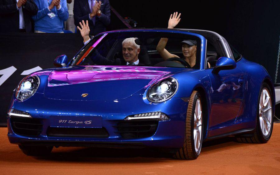 Maria Sharapova într-un Porsche, foto: Imago