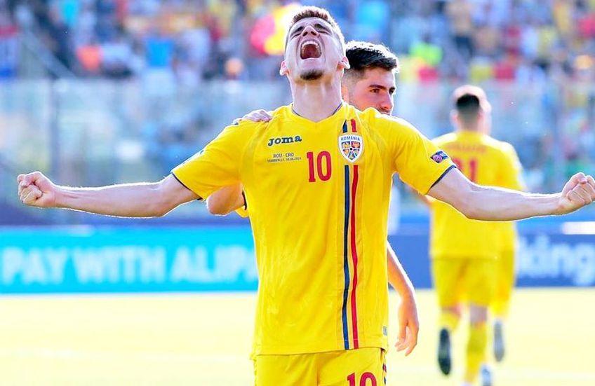 Ianis Hagi a impresionat pentru România U21