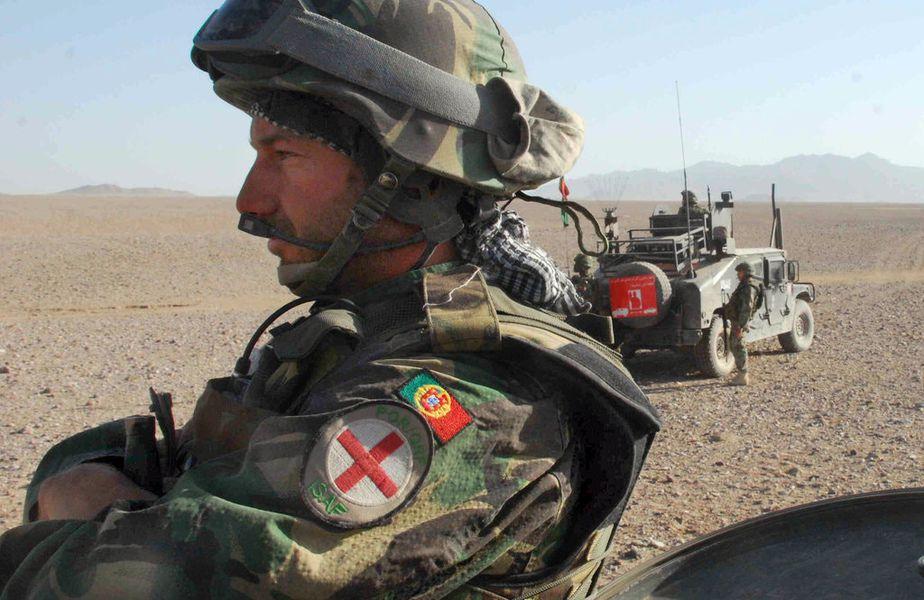 Frederico Varandas, pe vremea în care era medic militar în Afghanistan