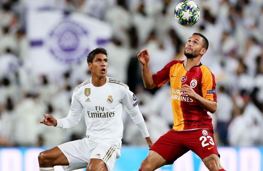 Florin Andone (dreapta) a evoluat pentru Galatasaray împotriva lui  Real Madrid // sursă foto: Guliver/gettyimages