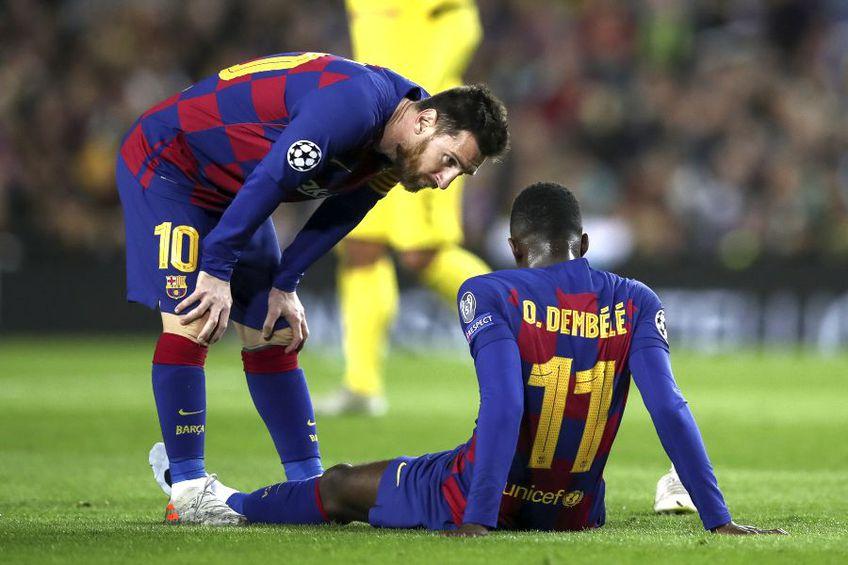 Ousmane Dembele (dreapta) a fost măcinat de accidentări în perioada petrecută la Barcelona // sursă foto: Guliver/gettyimages