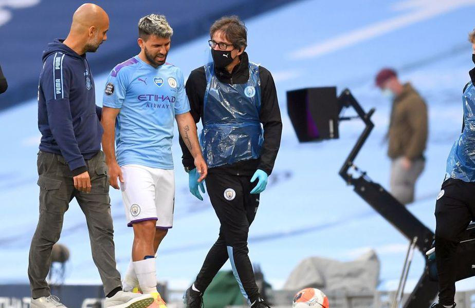 Pep Guardiola, îngrijorat de accidentarea lui Sergio Aguero // FOTO: Guliver/GettyImages