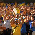 Suporterii Ucrainei au fost prezenți în număr mare la București. FOTO: Guliver/Getty Images
