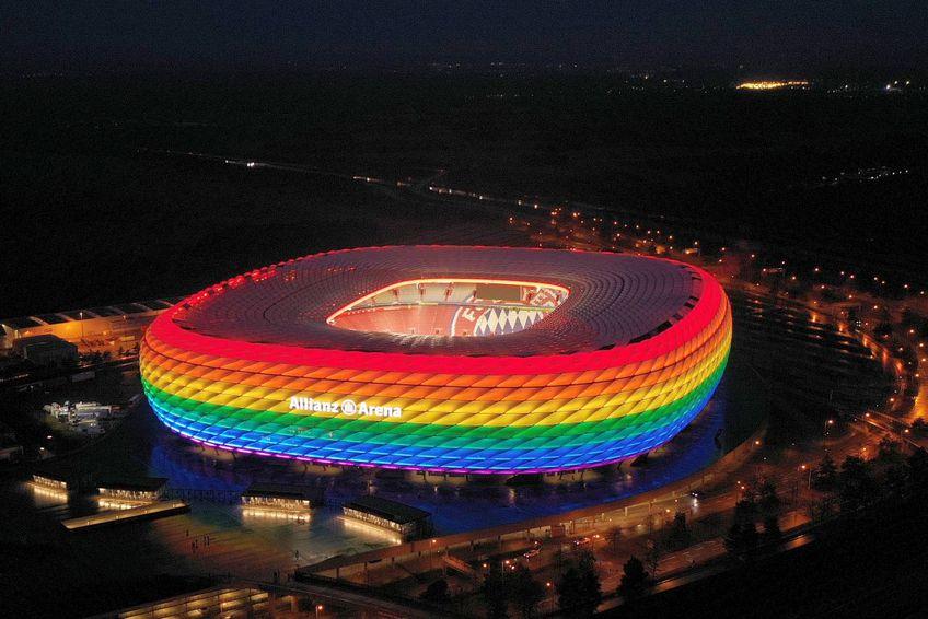 UEFA a revenit cu o nouă poziție pe marginea meciului Germania - Ungaria. FOTO: Guliver/Getty Images