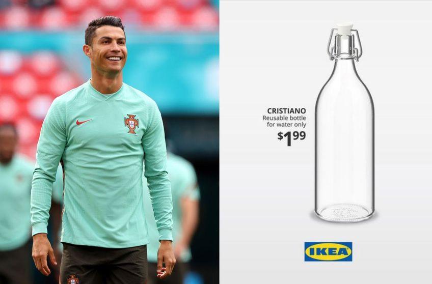 FOTO Ronaldo e în tot și în toate și la Euro, chiar dacă Portugalia nu strălucește. Alături, sticla lansată de Ikea / Gulliver/GettyImages