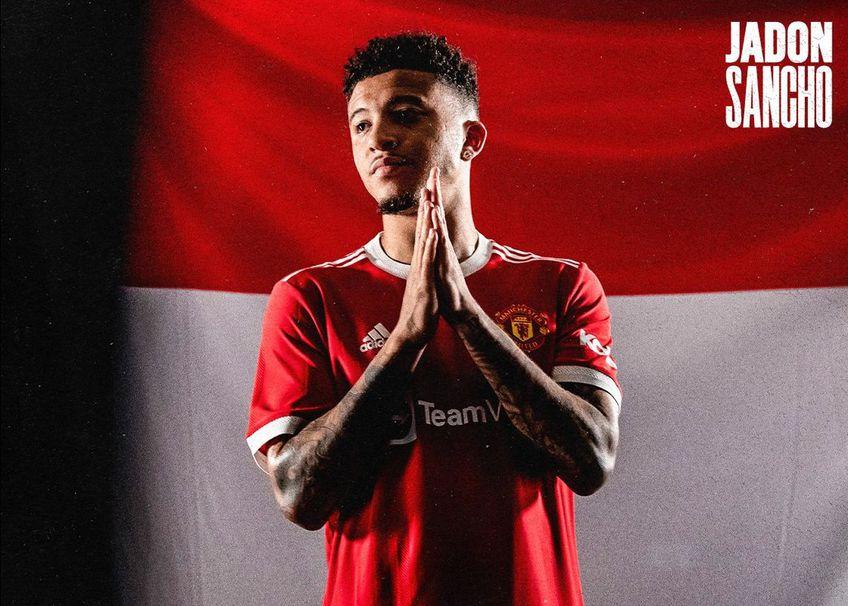 Jadon Sancho, prezentat oficial la Manchester United Foto:twitter/manchesterunited