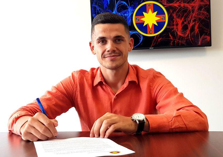 Andrei Dumiter (22 de ani, extremă) a fost prezentat oficial de FCSB.