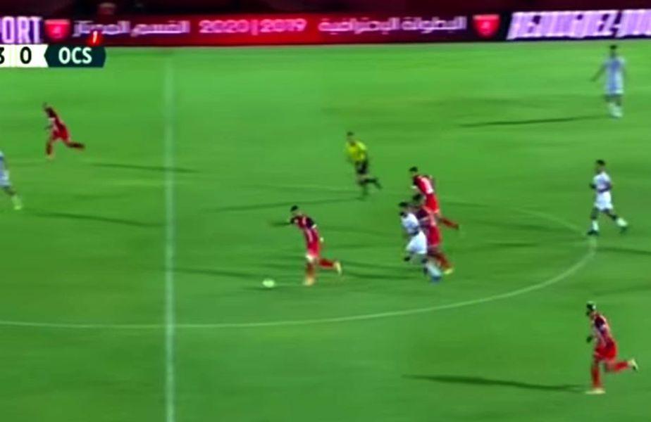 Golul marcat de Reda Jaadi pentru FUS Rabat // foto: captură YouTube @ HSports 1