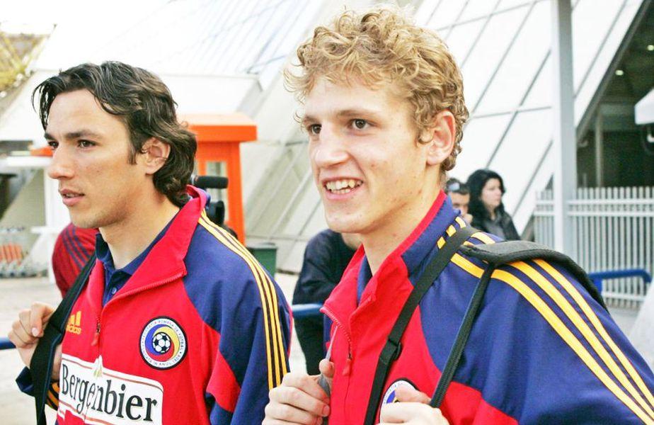 George Ogăraru și Mihai Neșu în echipamentul naționakei, foto: GSP