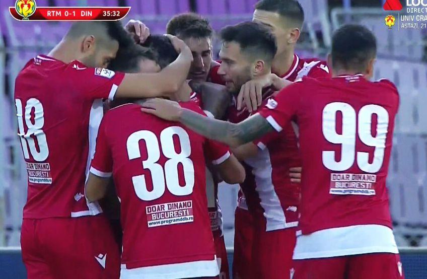 """Dinamo a învins-o pe Ripensia Timișoara, scor 1-0, în """"16-imile"""" de finală ale Cupei României."""