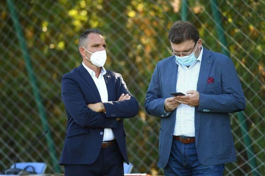 Dorin Șerdean (dreapta), alături de Pablo Cortacero, acționarul majoritar de la Dinamo