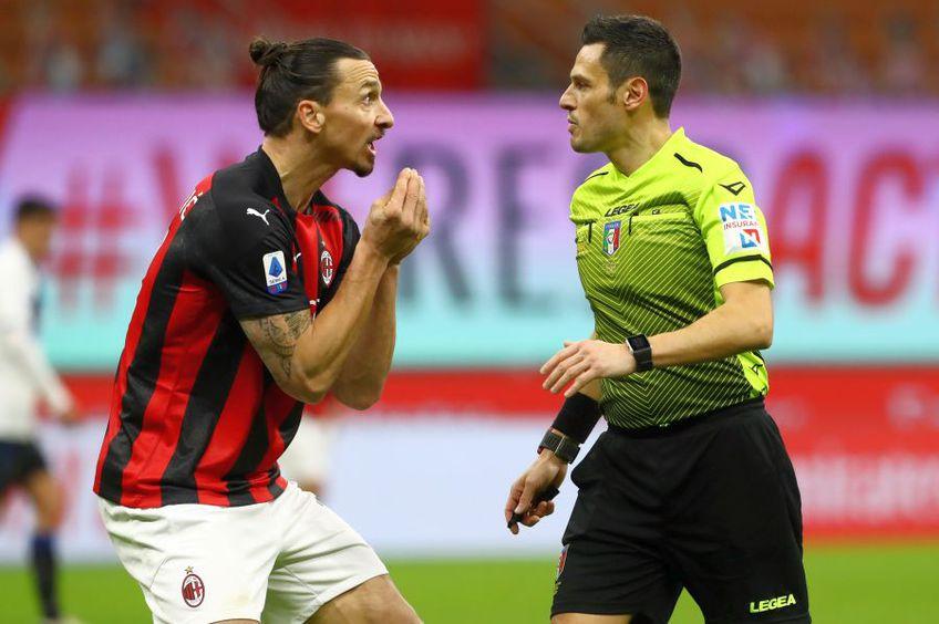 Zlatan Ibrahimovic (stânga), în AC Milan - Atalanta 0-3 // foto: Guliver/gettyimages