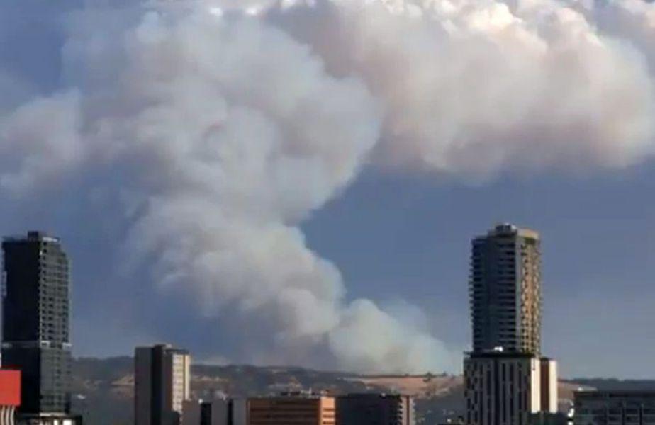 Incendiul de la Cherry Gardens // foto: captură @ Twitter