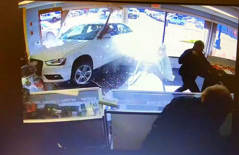 Accident Audi, captură youtube