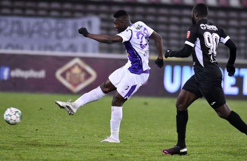 Cephas Malele are un sezon foarte bun în Liga 1 // foto: Sportpictures.eu