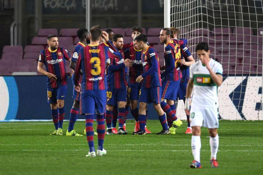 Barcelona a învins-o pe Elche, scor 3-0, într-o restanță din prima etapă a campionatului spaniol.