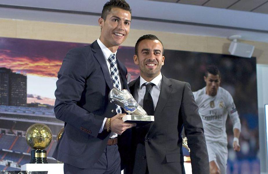 Jorge Mendes (dreapta) este impresarul lui Cristiano Ronaldo