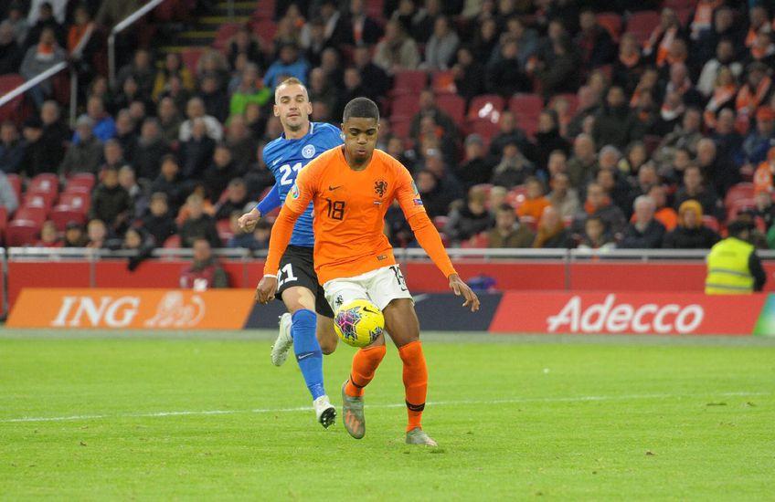 Myron Boadu a marcat 8 goluri pentru Olanda U21 în preliminariile acestui Euro FOTO Imago