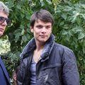 Mario Iorgulescu, alături de tatăl său, Gino Iorgulescu