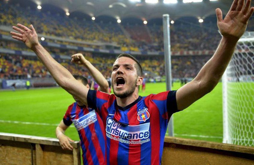 Alex Chipciu a sărbătorit titlul FCSB-ului din 2013 în cârje. FOTO: Arhivă Gazeta Sporturilor