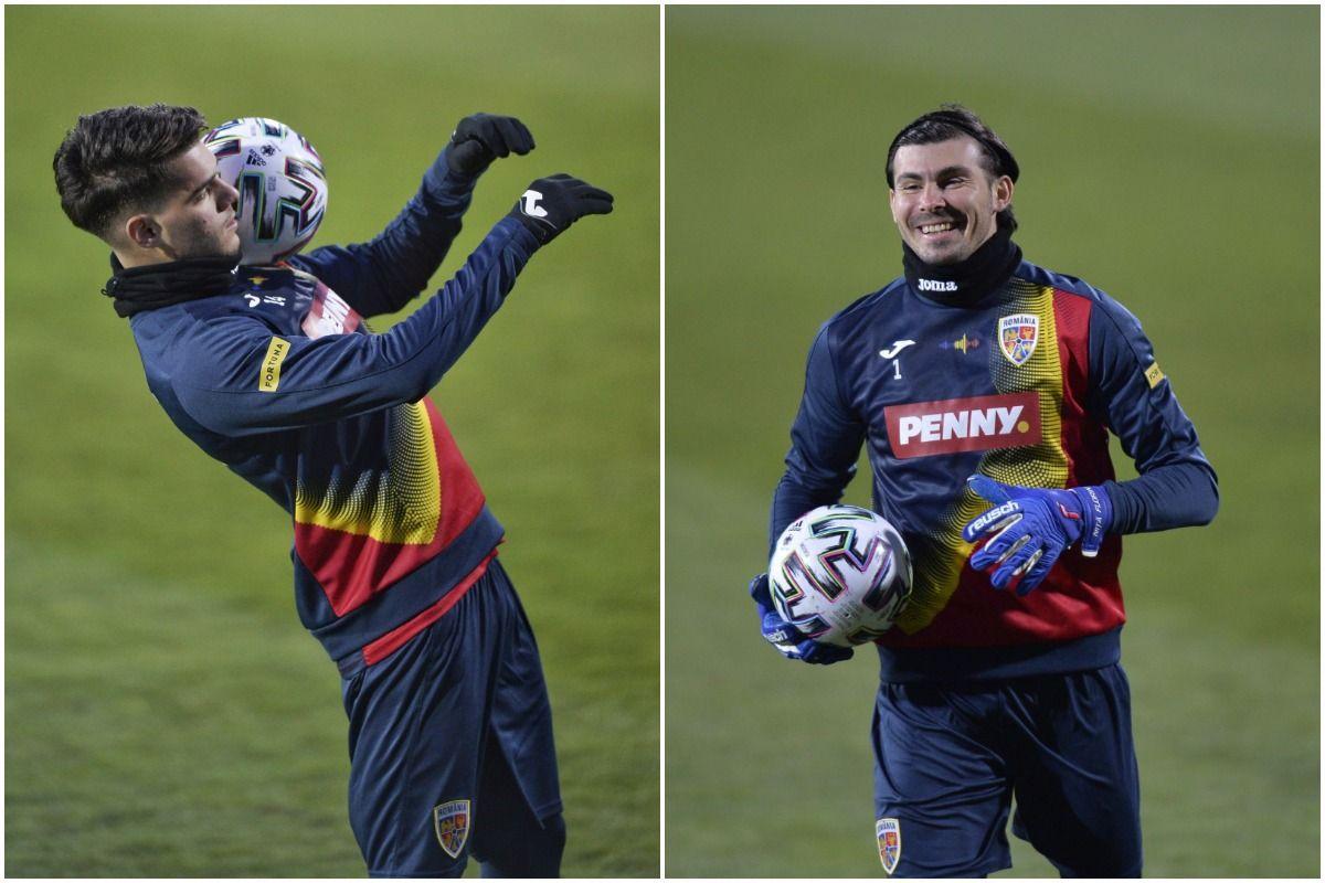 """""""Tricolorii"""", antrenament cu zâmbetul pe buze înainte de meciul cu Macedonia de Nord"""