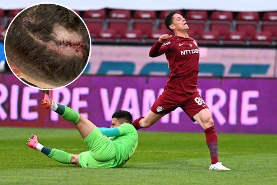 Rondon lasă piciorul în spate și îi sparge capul lui Vâlceanu (foto medalion)