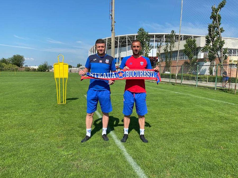Gabi Boștină și Daniel Oprița // FOTO: facebook.com/CSASTEAUA/