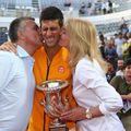 Novak Djokovic, împreună cu părinții