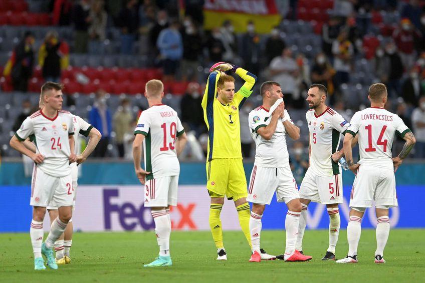 Maghiarii au terminat meciul cu Germania în lacrimi. FOTO: Guliver/Getty Images