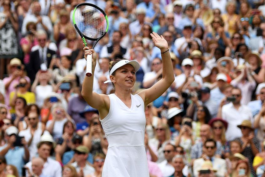 Simona Halep e campioana en-titre de la Wimbledon. foto: Guliver/Getty Images