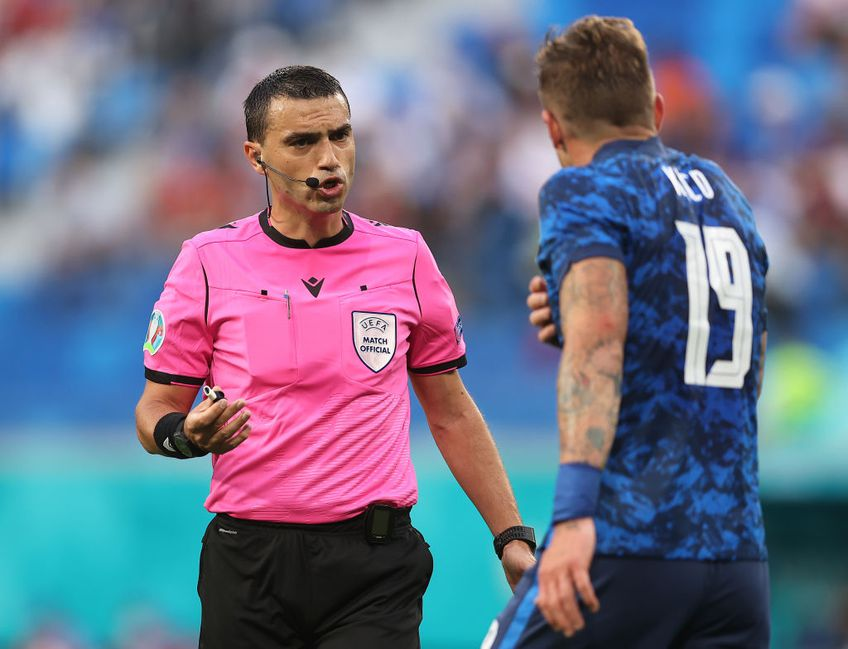 Ovidiu Hațegan (40 de ani) va fi al patrulea oficial la optimea de finală de la Euro 2020 dintre Țara Galilor și Danemarca.