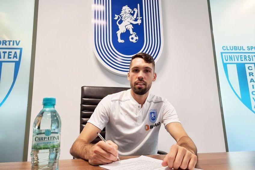Valerică Găman a semnat cu CSU Craiova // foto: Facebook @ Universitatea Craiova