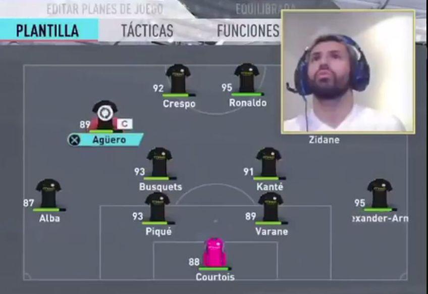 Sergio Aguero continuă să facă senzație pe internet cu reacțiile sale la FIFA 20, acolo unde canalul său de stream a depășit deja 1 milion de urmăritori.