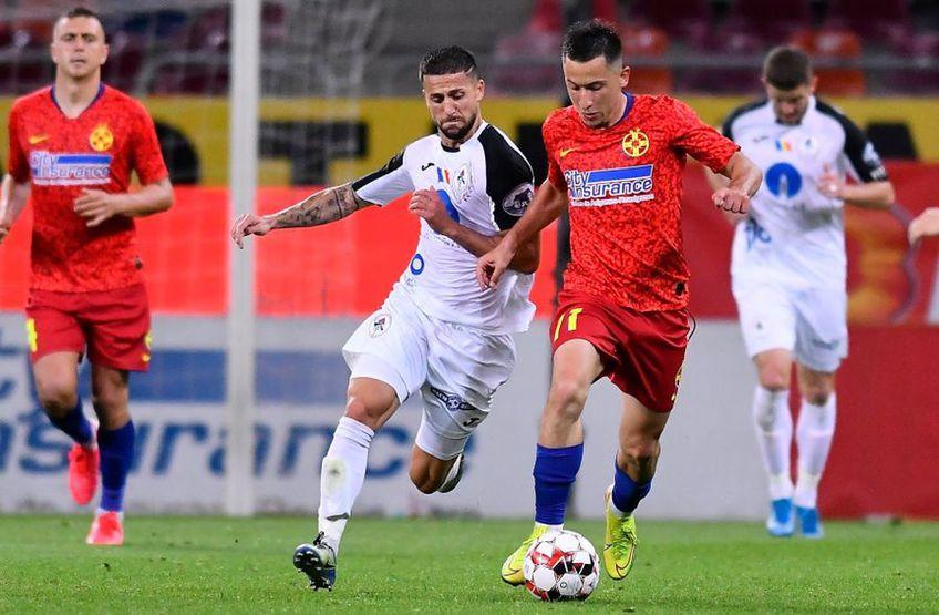 În partida tur din play-off, FCSB și Gaz Metan au remizat, scor 2-2