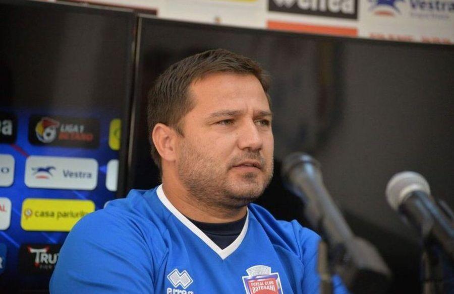 Marius Croitoru este antrenorul care a calificat-o în premieră pe FC Botoșani în play-off